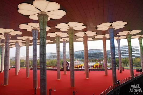 """△被称为""""四叶草""""的国家会展中心(上海)。"""
