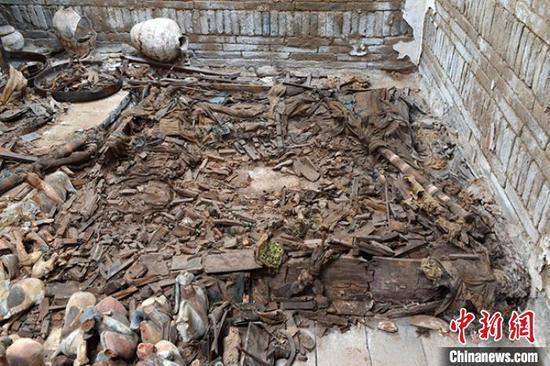 甘肃武威发现罕见吐谷浑王族墓葬