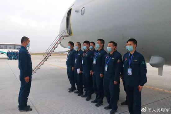 南部战区海军航空兵组织训练