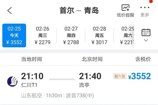 首尔飞青岛航班爆满?青岛官方回应
