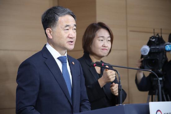 韩国保健福祉部长官朴凌厚(韩联社)