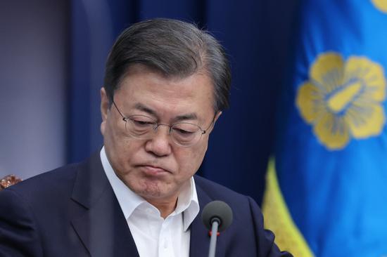 韩国总统文在寅向国民致歉:政局混乱 非常抱歉