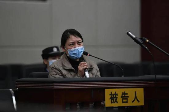 庭審現場的勞榮枝。圖源:南昌市中級人民法院