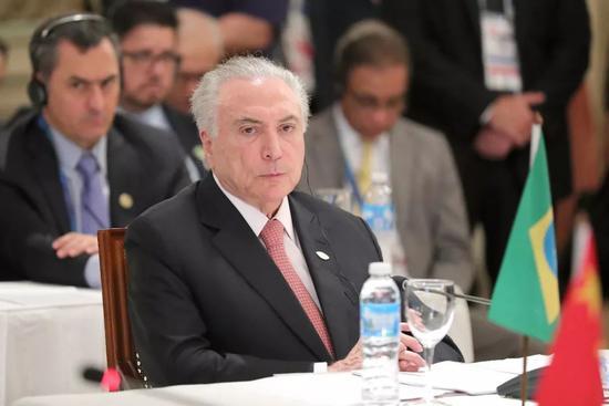 ▲资料图片:2018年11月30日,阿根廷布宜诺斯艾利斯,金砖国家领导人非正式会晤在G20峰会期间举行。图为巴西总统特梅尔。