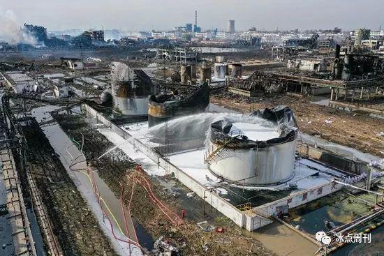 这是3月22日无人机拍摄的爆炸事故现场。 新华社记者 李博/摄