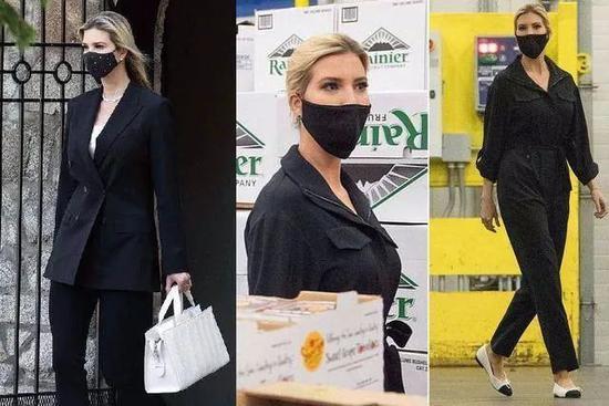 特朗普女儿伊万卡恰恰经常戴个黑色口罩