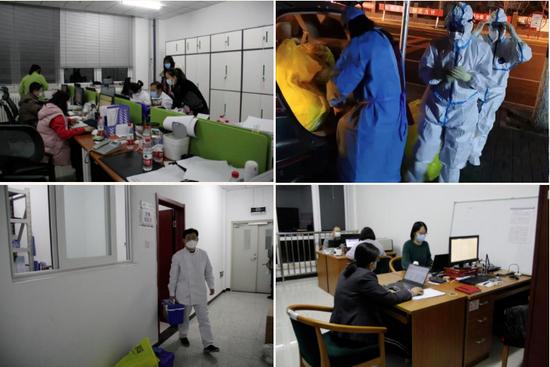 顺义疾控中心流调组进行流行病学调查、采样、密切接触者排查工作。图据顺义发布