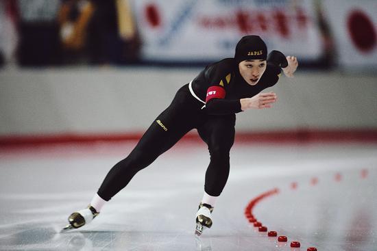 桥本圣子参加1988年冬奥会3000米速滑项目