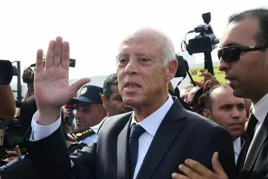 ▲突尼斯总统赛义德。图片来源:新华社