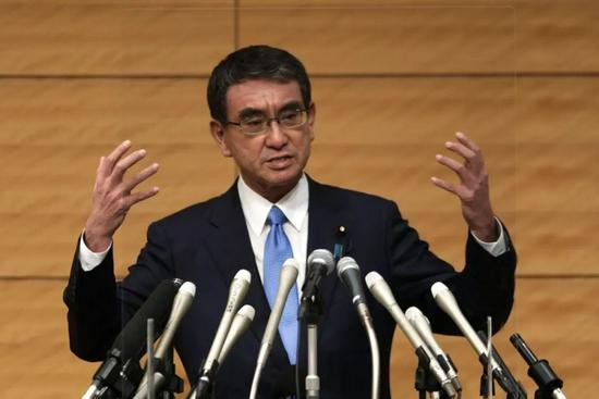 河野太郎正式宣布参加日本自民党总裁选举。图源:视觉中国
