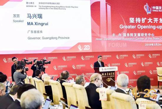 广东省省长马兴瑞 中国发展高层论坛 供图