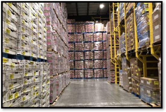 肉类产业日益增长的产量已经堆满了专门用于储存肉的仓库(图源: ZERO MOUNTAIN INC。)