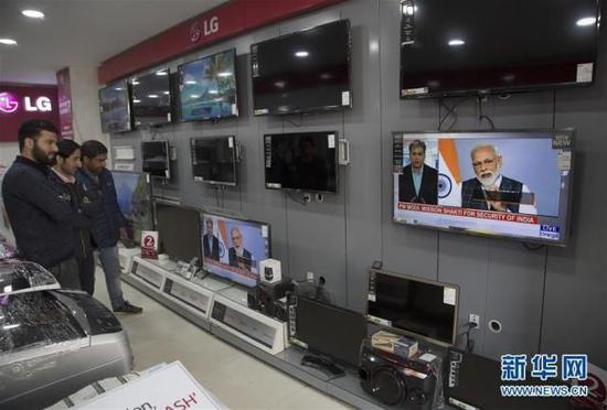 印度总理莫迪发表电视讲话