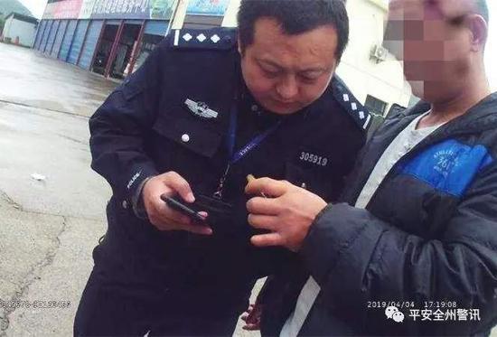 赵克昊生前最后一张处警工作照