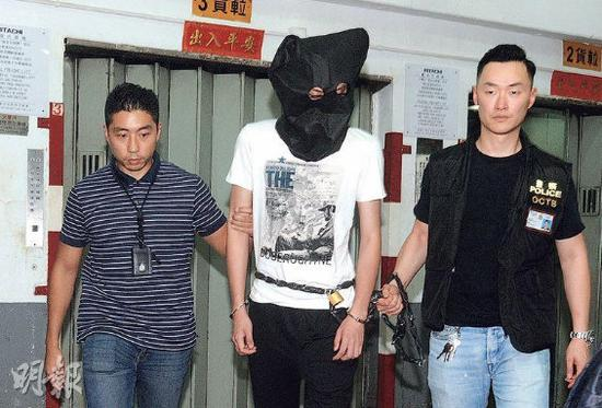 香港警方21日逮捕卢姓犯罪嫌疑人(图片来源:港媒)