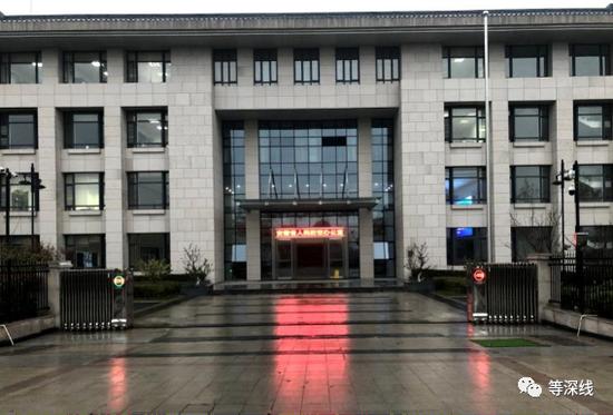 安徽省人防办气派的大楼。《等深线》记者 郝嘉奇摄