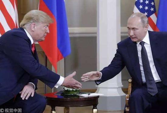 俄罗斯总统普京与美国总统特朗普(视觉中国)