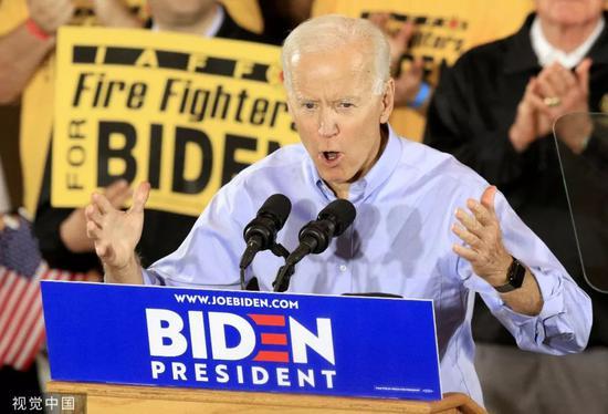 ▲2019年4月29日,美国匹兹堡,美国前副总统乔·拜登出席竞选活动。