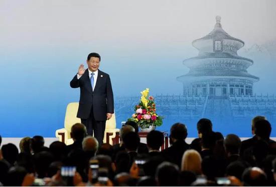 △中国国家主席习近平在北京出席2014年亚太经合组织(APEC)工商领导人峰会开幕式并发表主旨演讲。