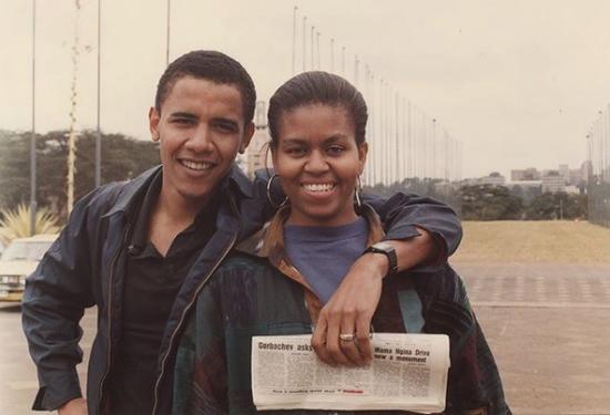 """米歇尔生日 奥巴马深情告白""""你是独一无二的""""(图)"""