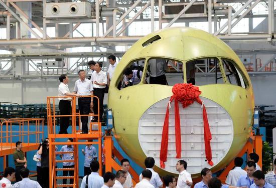 ▲资料图片:中国国产大飞机C919(东方IC)