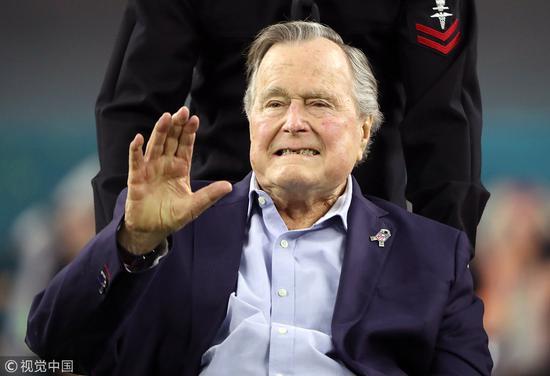 美国前总统老布什(视觉中国)