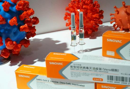 我国科兴生物出产的新冠疫苗(路透社)