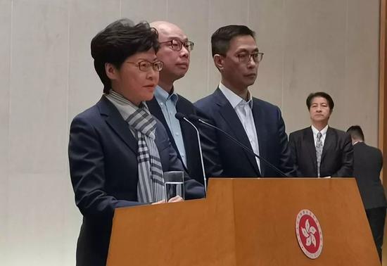 △香港特区行政长官林郑月娥会见媒体