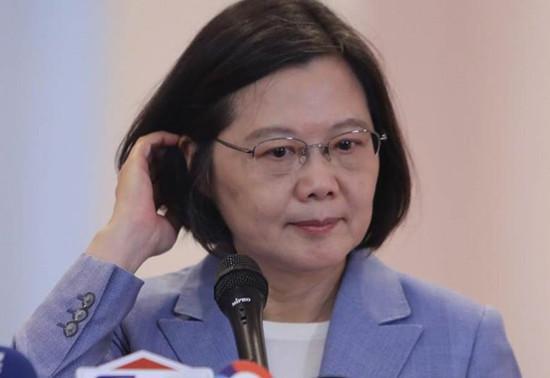 图为台湾地区领导人蔡英文