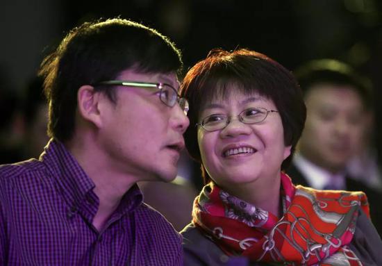 俞渝和李国庆图据IC Photo