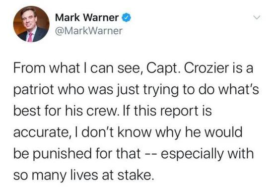 ▲ Mark Warner Twitter screenshot