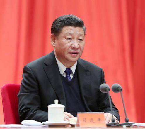 2018年1月11日,習近平在中國共產黨第十九屆中央紀律檢查委員會第二次全體會議上發表重要講話。圖片來源:新華社