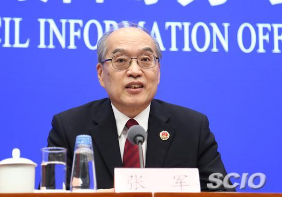 最高人民检察院检察长、首席大检察官张军(张馨 摄)