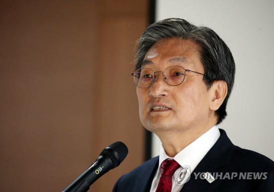 韩国驻华大使卢英敏(韩联社)