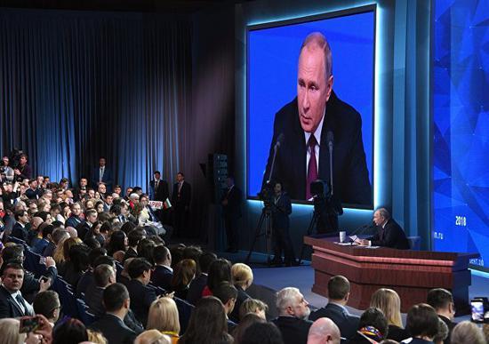普京称,俄罗斯积极评价中国发生的转折。(图源:俄罗斯卫星通讯社)