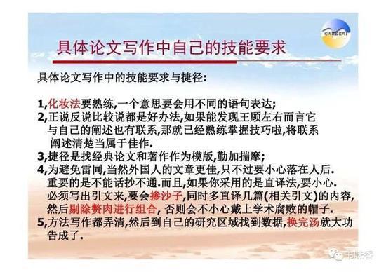 ▲ 徐中民《怎样写论文和文章》PPT,图片来自徐中民个人微信公众号。