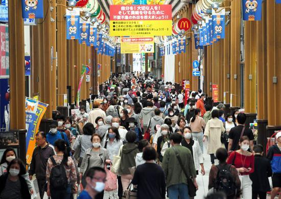 5月7日的日本街头(朝日新闻)