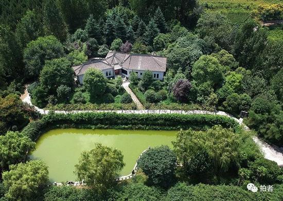 """▲ """"陈路别墅""""的整个院落外围用高墙和大树遮蔽,极其隐蔽。"""