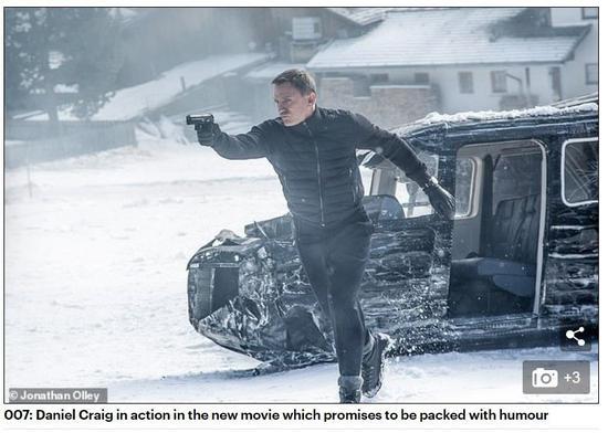 """▲截图来自《每日邮报》的报道,该报称克雷格会继续在新剧中扮演退休的""""邦德"""""""