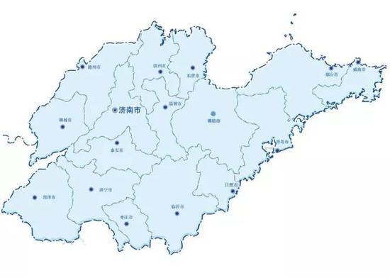 山东省地图 来源:山东省政府官网