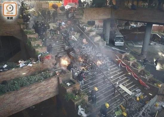 香港理工大学校园现状。图源:东网