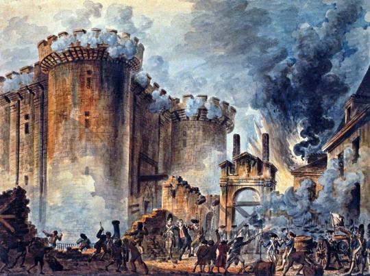 图为法国大革命时攻占巴士底狱的场景(《首尔经济》)
