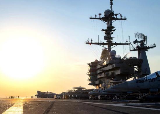 约翰·斯坦尼斯号航母。(图源:美国海军)
