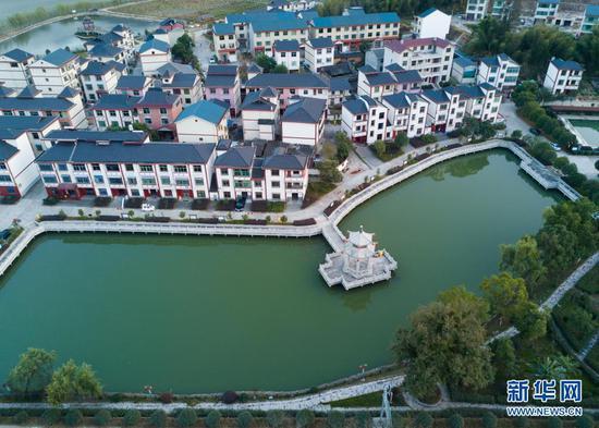 2020年11月20日拍摄的福建省三明市将乐县高唐镇常口村(无人机照片)。新华社记者 宋为伟 摄