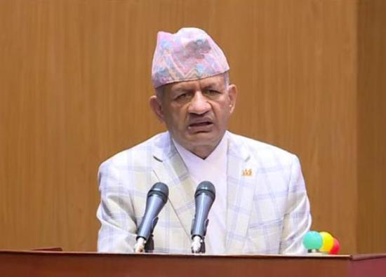 尼泊尔外交部长贾瓦利(视频截图)