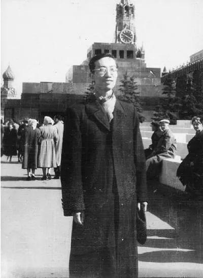 1958年,谢毓元在莫斯科红场留影