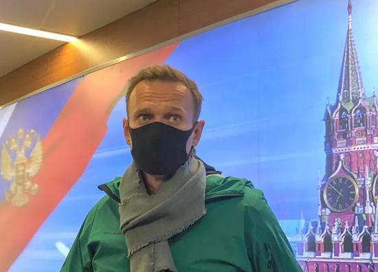 纳瓦利内抵达莫斯科(图源:俄新社)