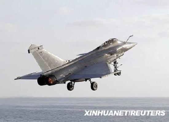 """资料图片:法国 """"阵风""""战斗机。(来源:新华社/路透社)"""