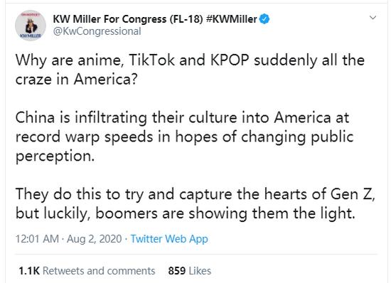 (图为前两天美国别名政客居然宣称韩国通走笑和日本动漫也是中国侵犯美国文化的攻势,搞得韩国和日本网民一脸懵圈)