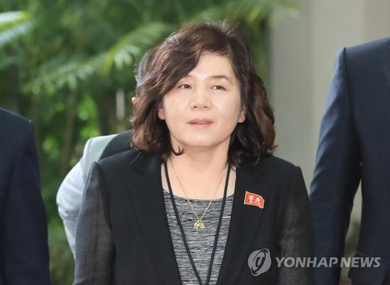 朝鲜外务省副相崔善姬(韩联社)